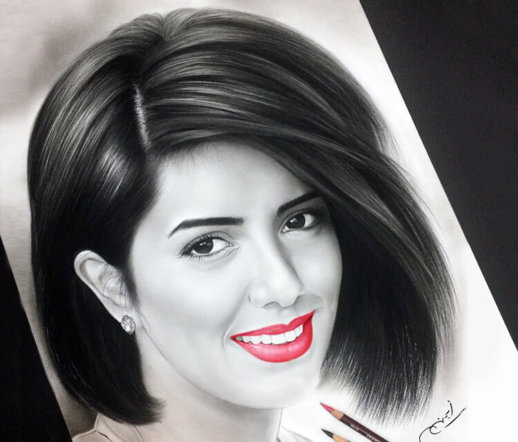 Woman portrait 7 drawing by Ayman Arts