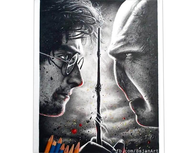 Harry Potter drawing by Bajan Art