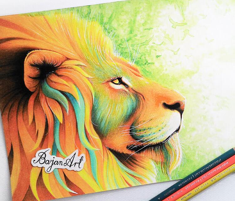 King color drawing by Bajan Art