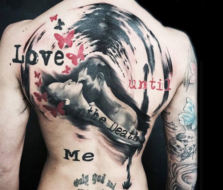 Love until tattoo by Bajan Art