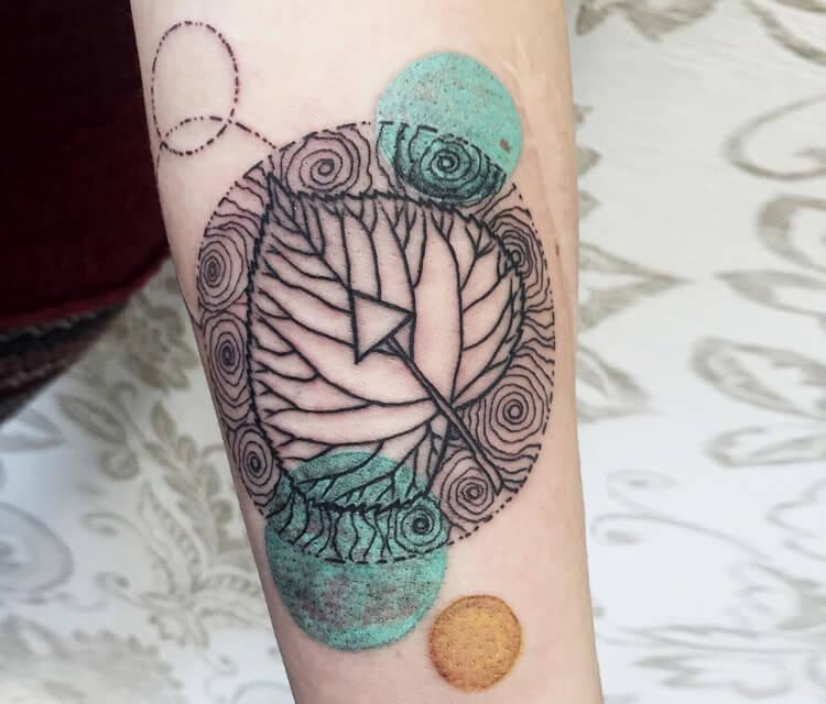Growth layer leaf tattoo by Bambi Tattoo