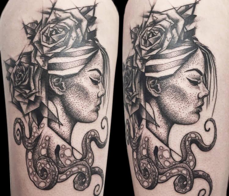Jaws tattoo by Bambi Tattoo