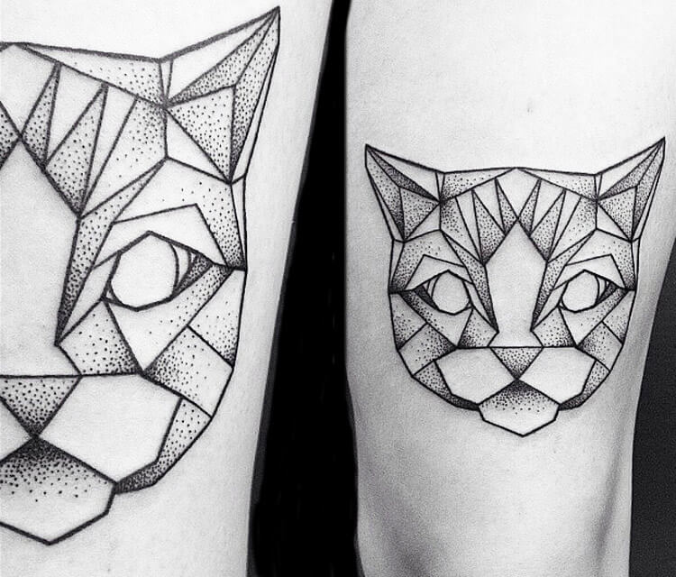 Kitty tattoo by Bambi Tattoo