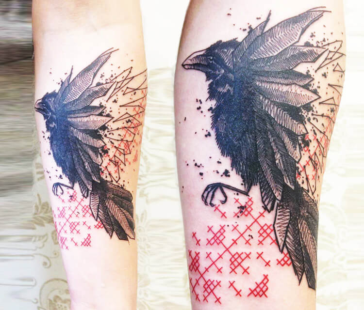 Raven tattoo by Bambi Tattoo