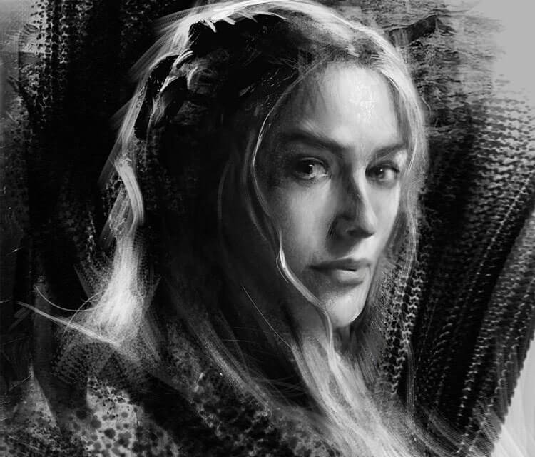 Cersei Lannister digital art by Bella Bergolts