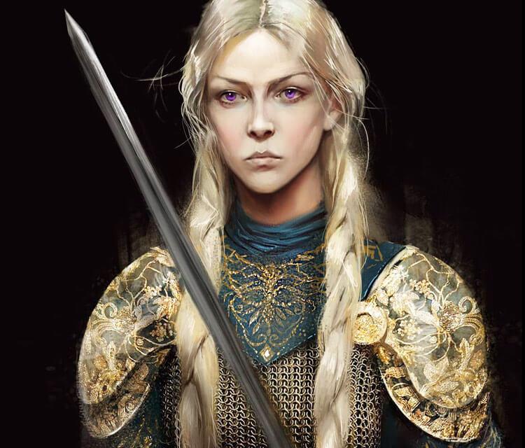 Visenya Targaryen digital art by Bella Bergolts
