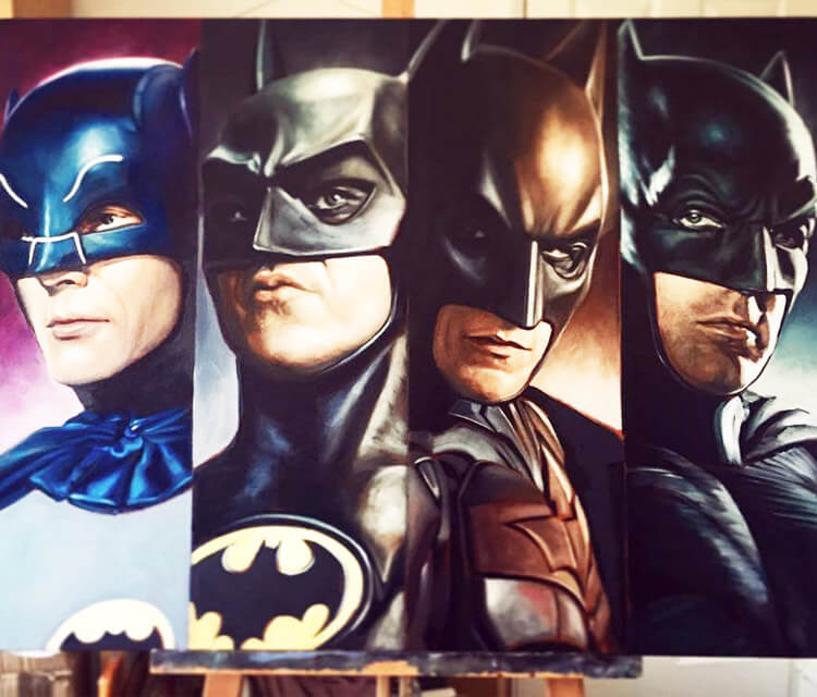 Batman acryl painting by Ben Jeffery