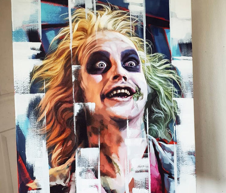 Beetlejuice oil painting by Ben Jeffery