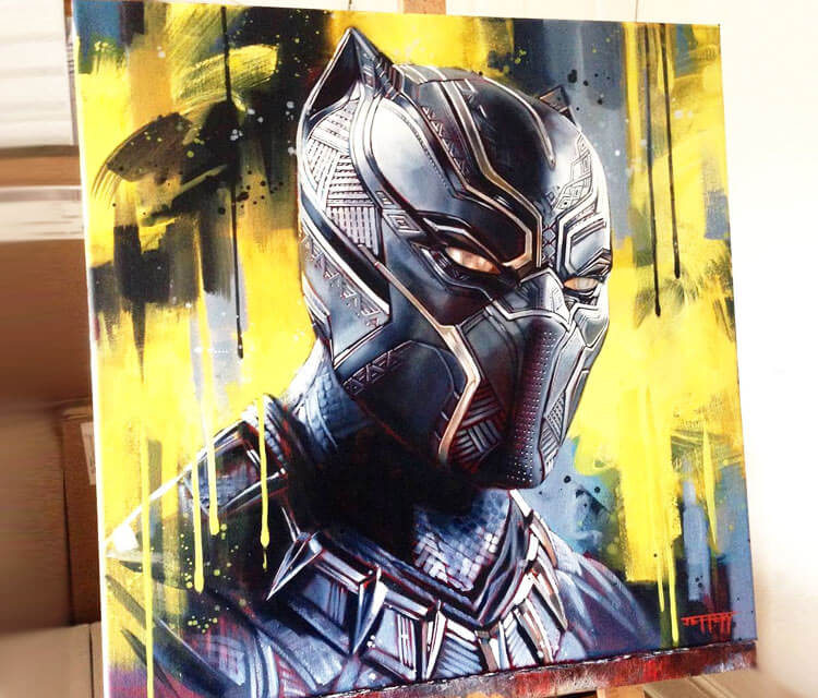 Black Panther painting by Ben Jeffery