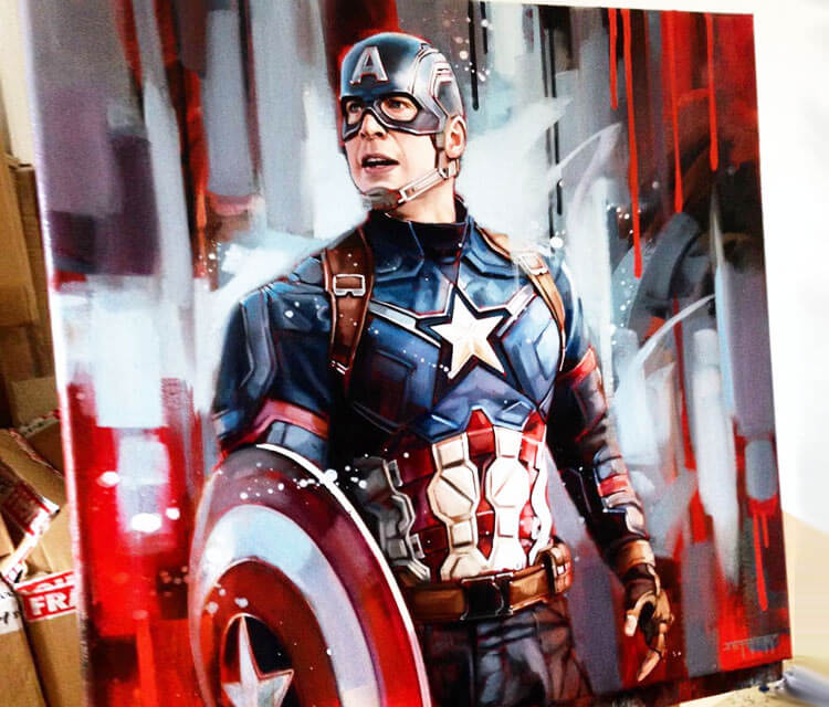 Captain America painting by Ben Jeffery