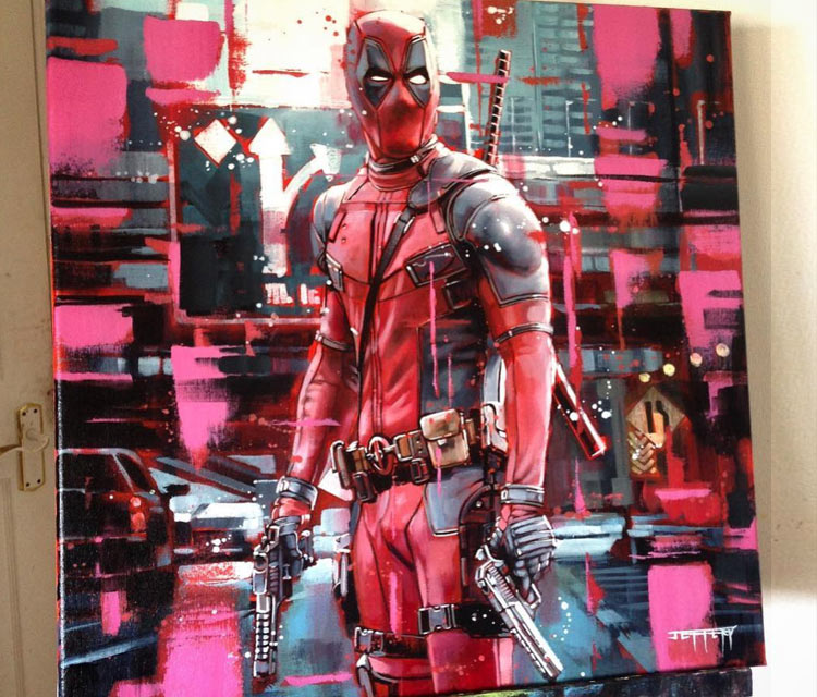 Deadpool painting by Ben Jeffery
