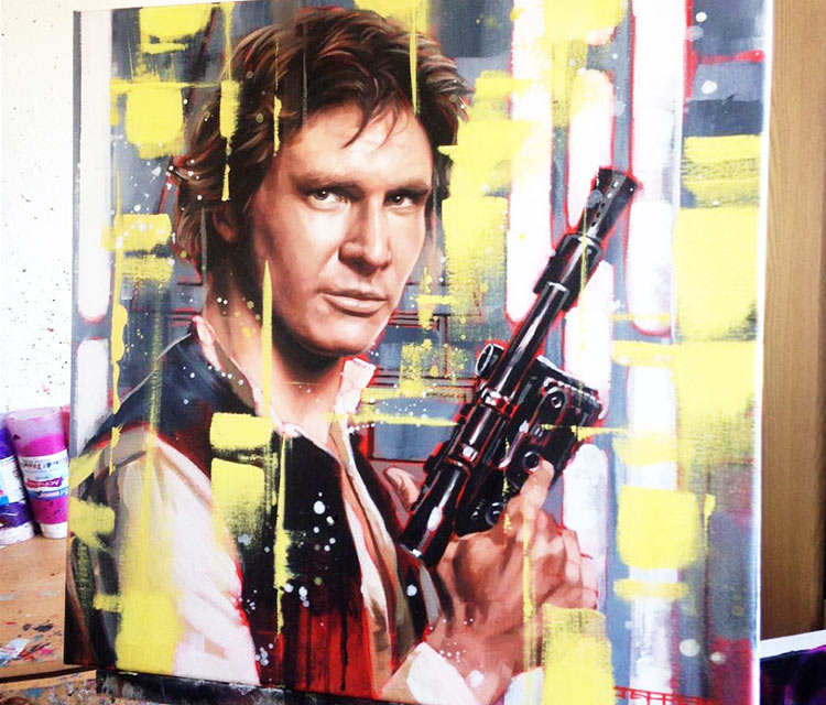 Han Solo oil painting by Ben Jeffery
