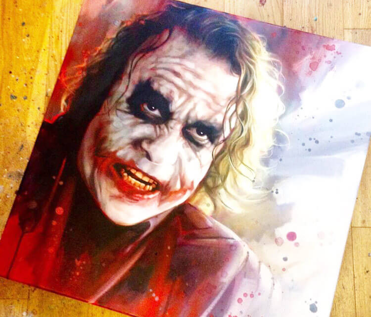 Joker oil painting by Ben Jeffery