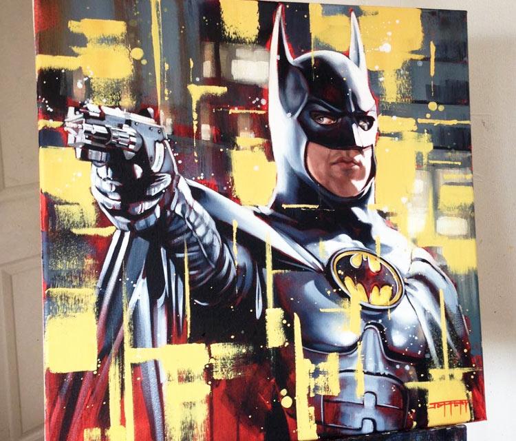 I'm Batman oil painting by Ben Jeffery