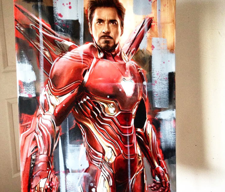Iron Man oil painting by Ben Jeffery