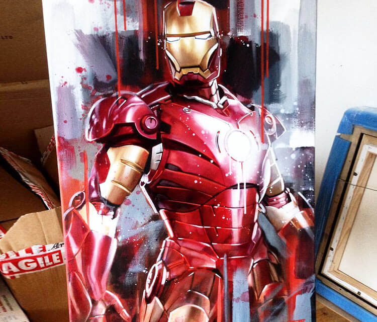 Iron Man painting by Ben Jeffery