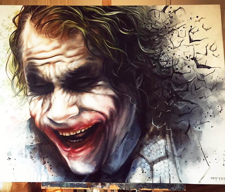 Joker painting by Ben Jeffery