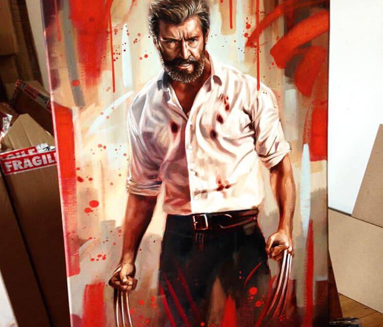 Logan oil painting by Ben Jeffery