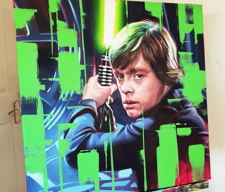 Lukes Choice oil painting by Ben Jeffery