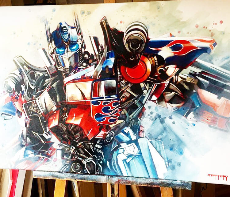 Optimus Prime painting by Ben Jeffery