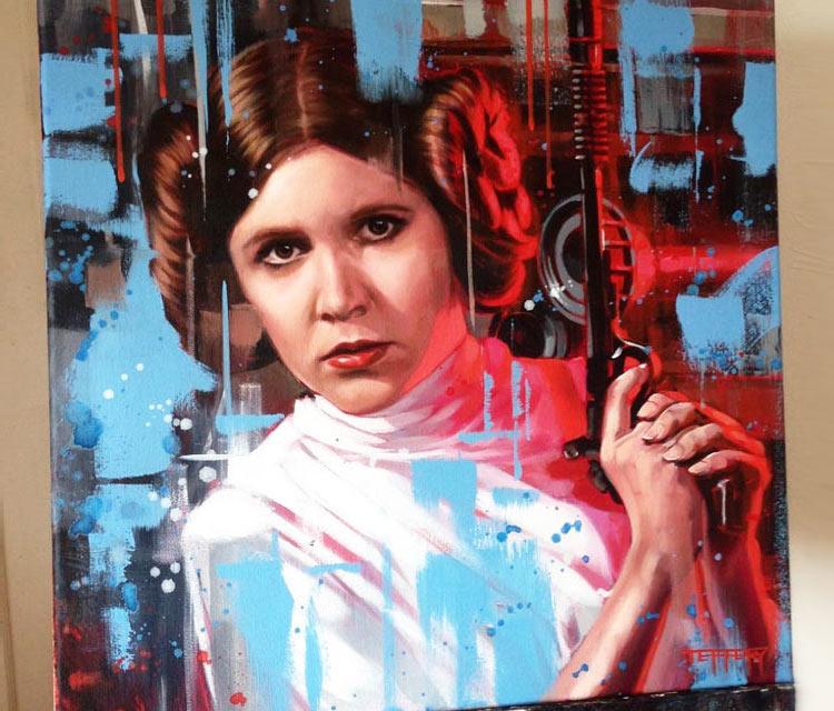 Princess Leia oil painting by Ben Jeffery