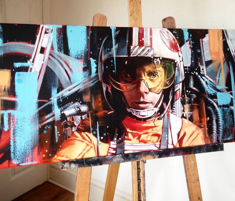 Red Five painting by Ben Jeffery
