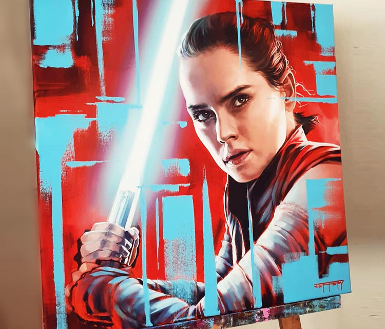 Rey painting by Ben Jeffery