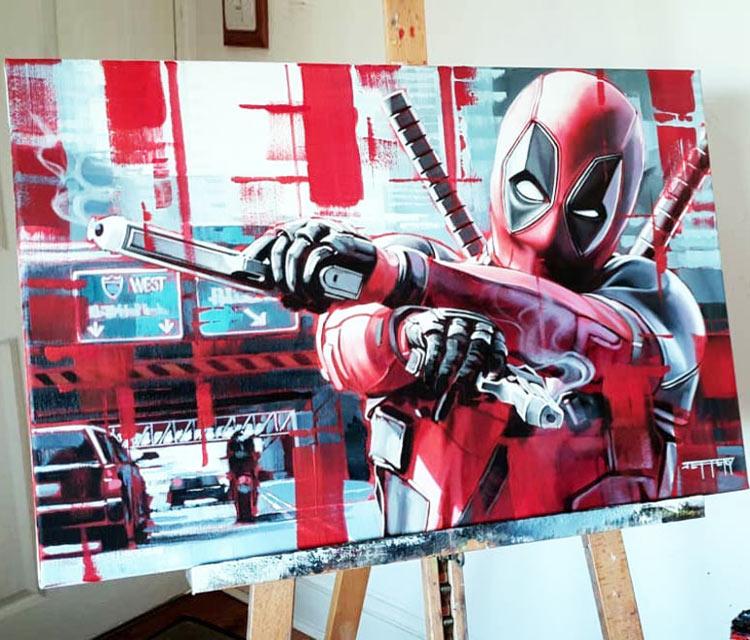 Deadpool painting by Ben Jeffery