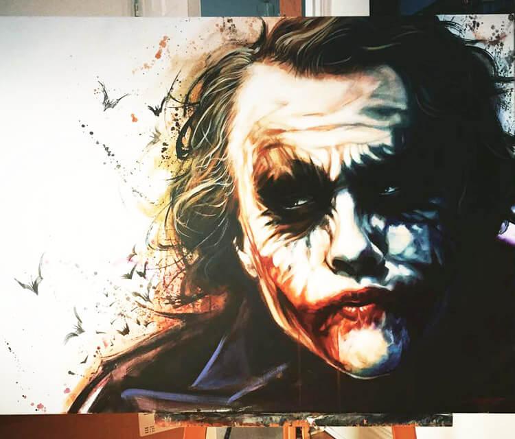 The Joker oil painting by Ben Jeffery