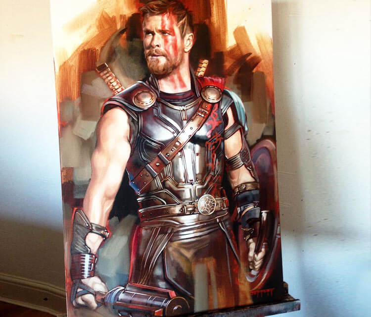Thor painting by Ben Jeffery