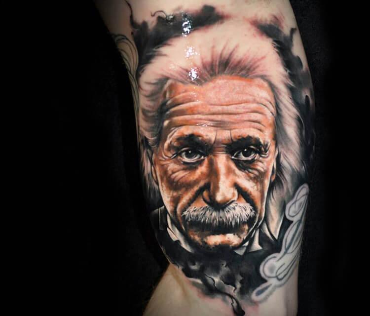 Portrait Tattoo Of Albert Einstein By Benjamin Laukis No 252