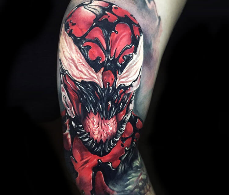 Carnage tattoo by Benjamin Laukis