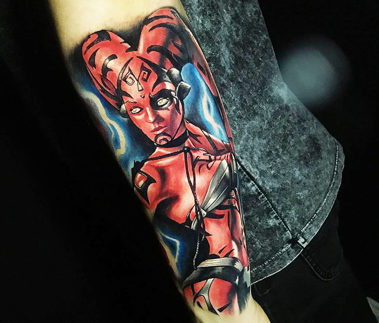 Darth Talon tattoo by Benjamin Laukis