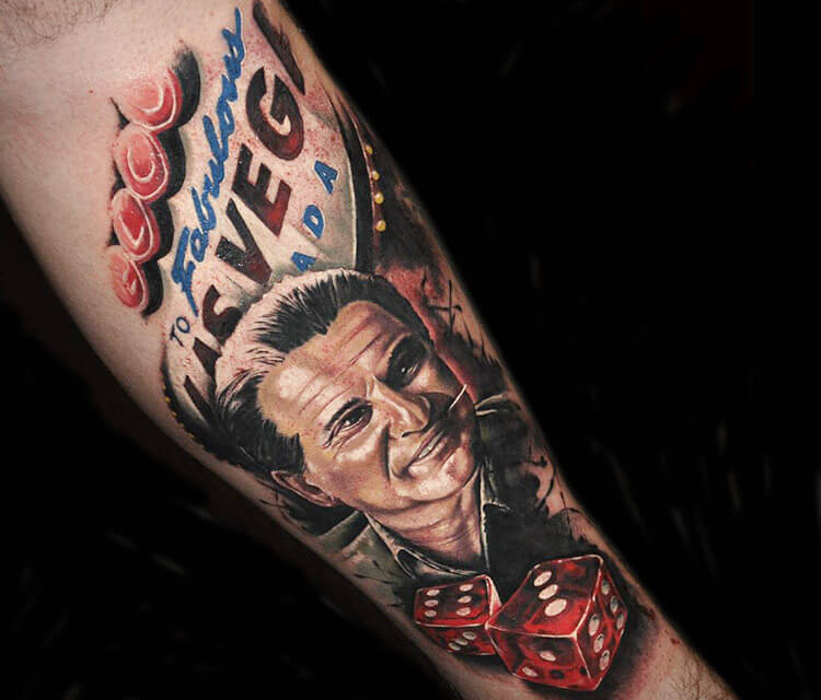 Las Vegas tattoo by Benjamin Laukis