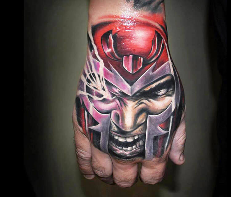 Hand tattoo by Benjamin Laukis