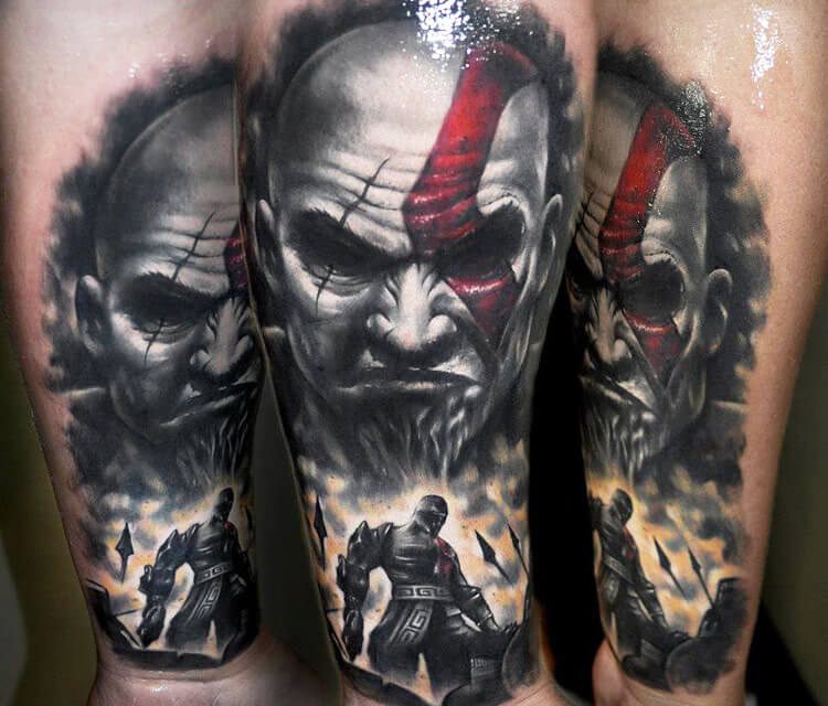 Warrior tattoo by Benjamin Laukis