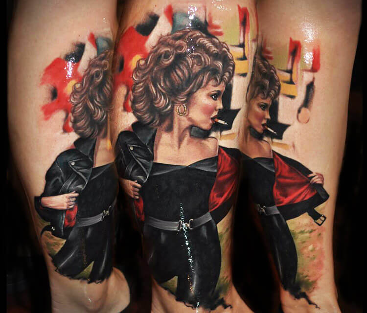 Woman figures tattoo by Benjamin Laukis