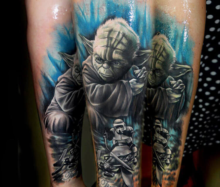 Star Wars tattoo by Benjamin Laukis