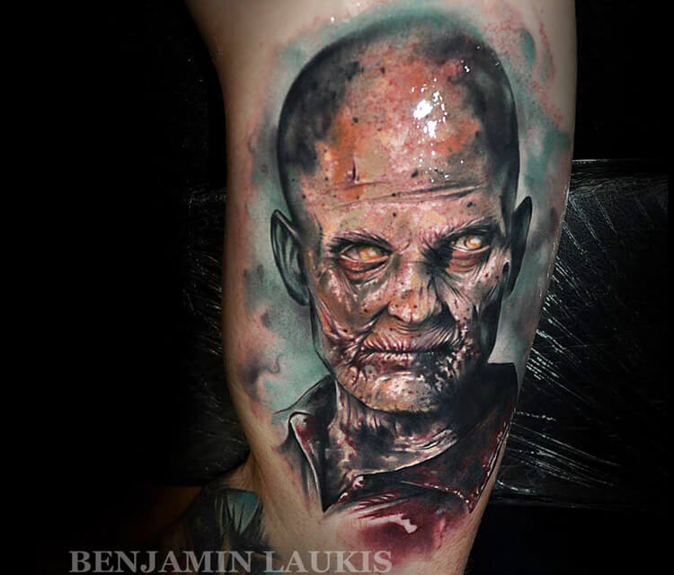Zombie tattoo by Benjamin Laukis