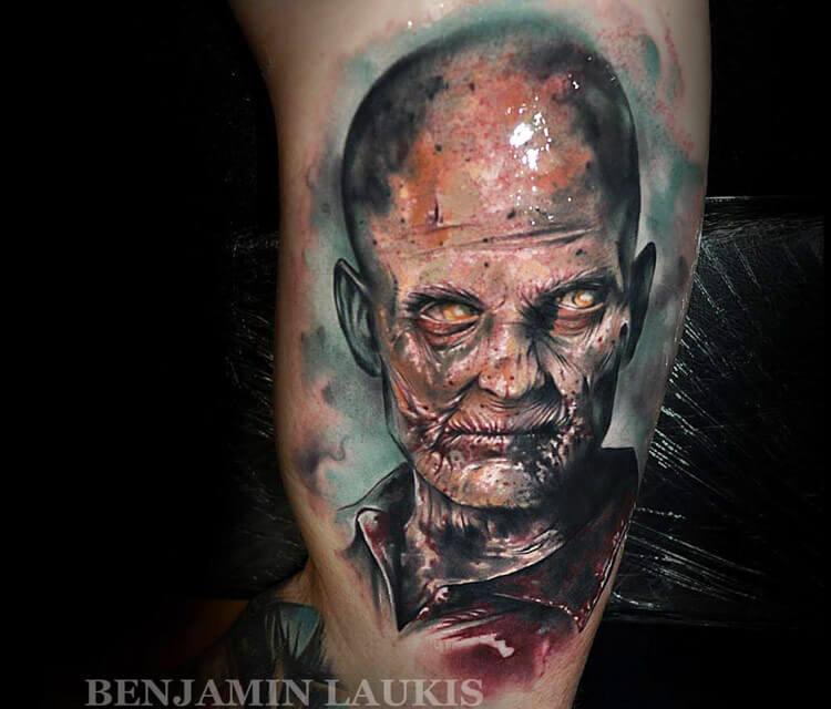 Zombie tattoo by Benjamin Laukis