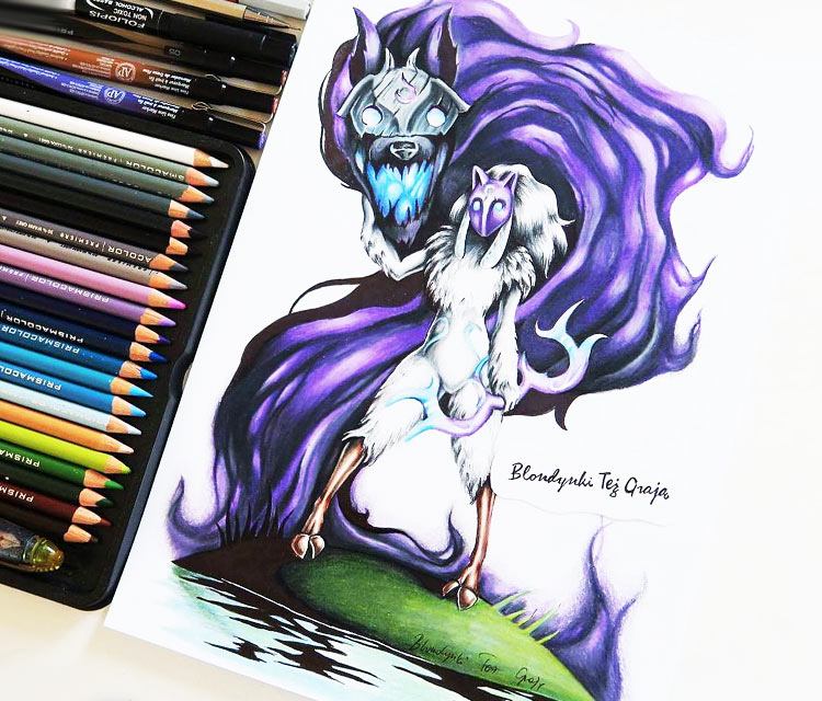Kindred drawing by Blondynki Tez Graja
