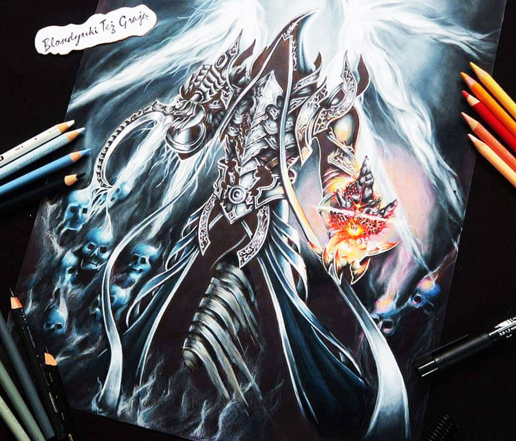 Malthael pencil drawing by Blondynki Tez Graja