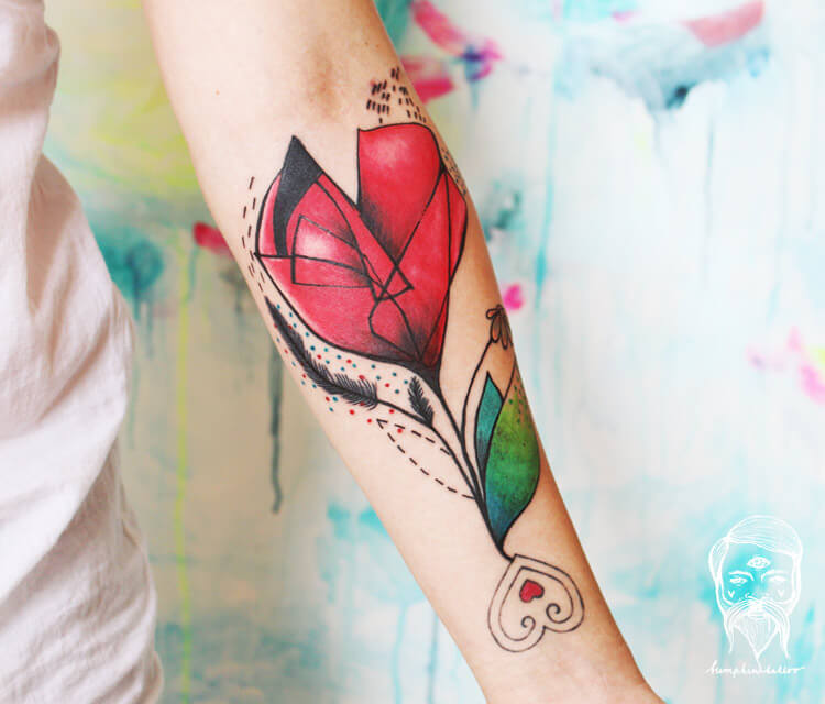 Hot Flowers Hot Country tattoo by Bumpkin Tattoo