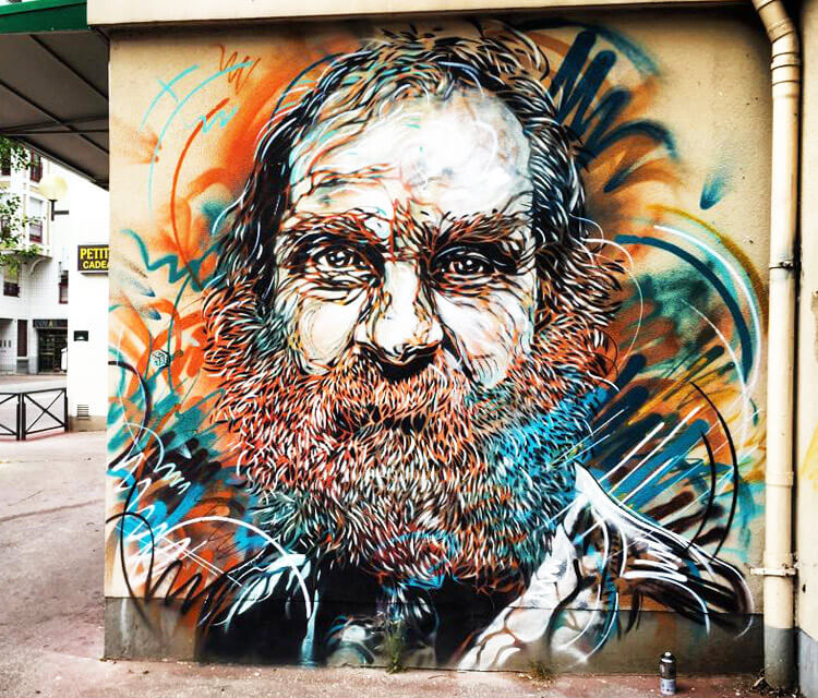 71 avenue de choisy streetart by C215
