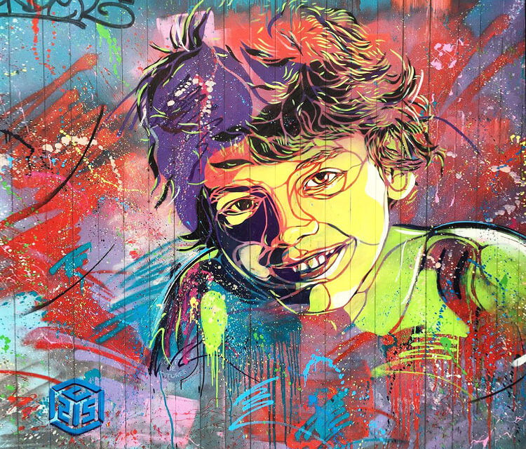 Abstract children portrait by C215
