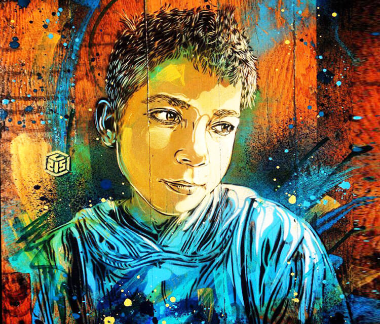 Abstract boy portrait by C215