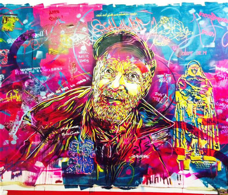 Abstract old man portrait by C215