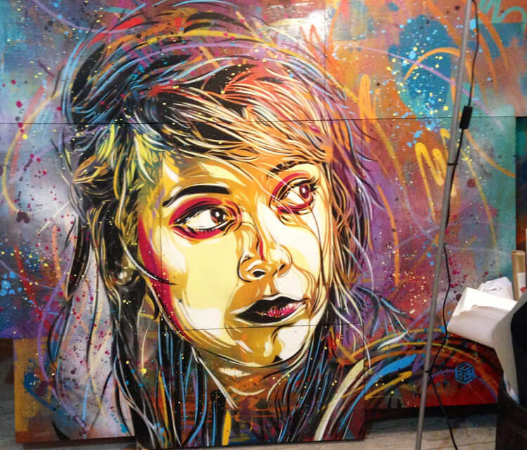Abstract woman portrait by C215