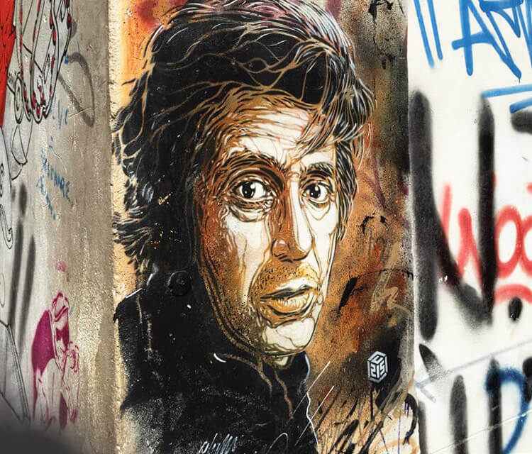 Tribute to Al Pacino by C215 in Palermo