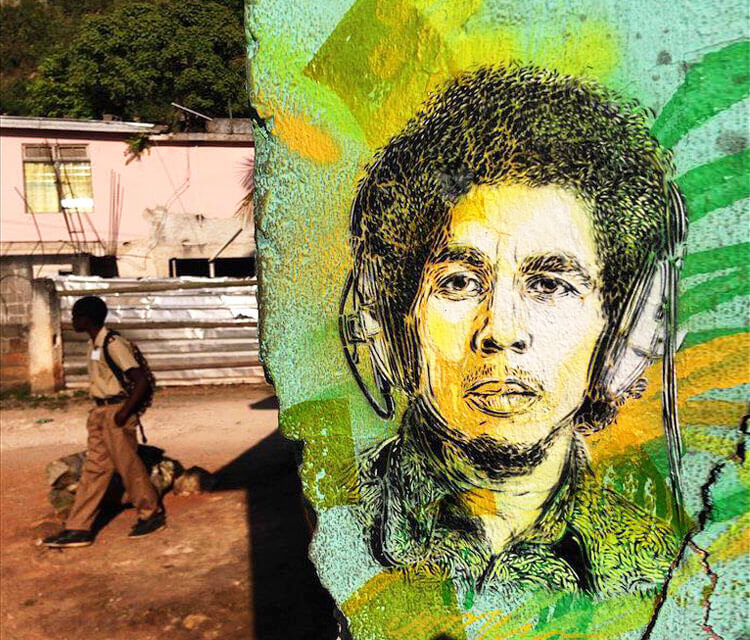 Happy Birthday Bobby Marley by C215